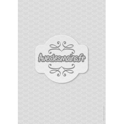 Chevrons fins blanc sur fond gris - stamp