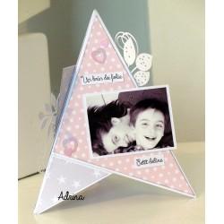 """Kit - Carte triangle """"Un brin de folie"""""""