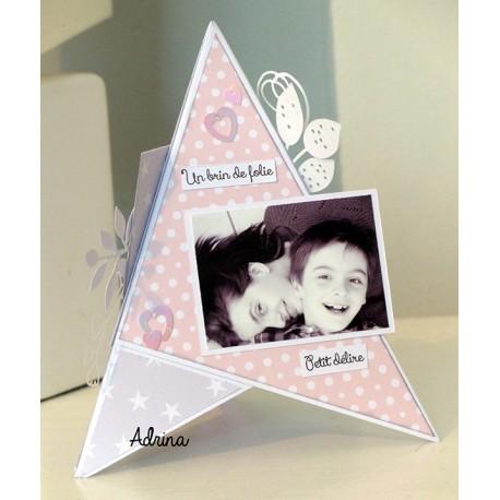 """Kit - Carte triangle """"Un brin de folie"""" - photo 1"""