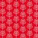 Feuilles en épis - fond rouge - zoom