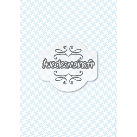 Petits carrés bleu pale - stamp