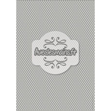 petites feuilles grises sur fond gris foncé - stamp