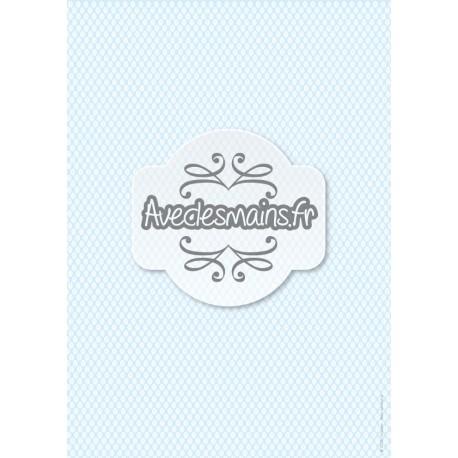 petites feuilles Blanches sur fond bleu clair - stamp