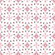 Etoiles rouges - noire - zoom