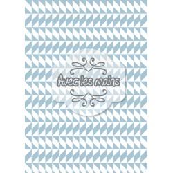 triangles et losanges gris-bleu et blancs