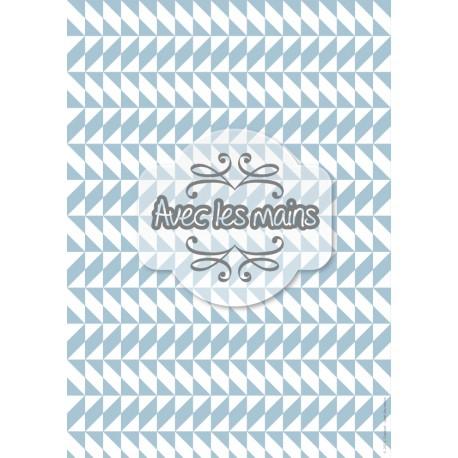 triangles et losanges gris-bleu et blancs - stamp