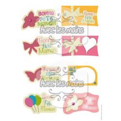 Etiquettes - Bonne fête Maman - mini pack - stamp