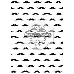 Moustaches noires sur fond blanc - stamp