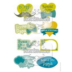 Etiquettes - Bonne fête Papa - mini pack - stamp