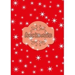 Fond rouge étoilé de blanc