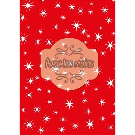 Fond rouge étoilé de blanc - stamp