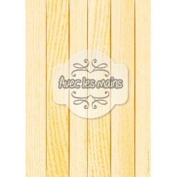Lames de bois orange clair