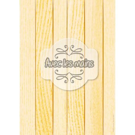 Lames de bois orange clair - stamp
