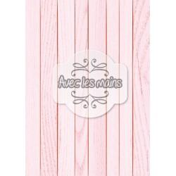 Lames de bois rose clair