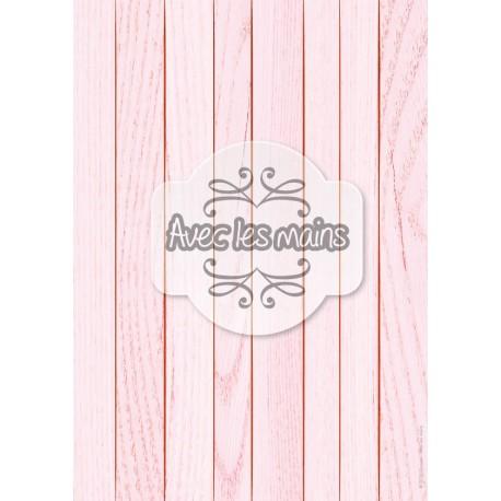 Lames de bois rose clair - stamp