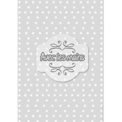 Étoiles blanches sur fond gris - stamp