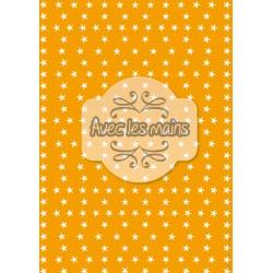 Étoiles blanches sur fond orange