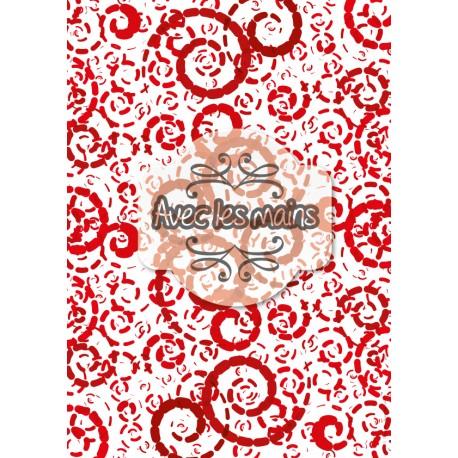Spirales en boudins - rouge foncé - stamp