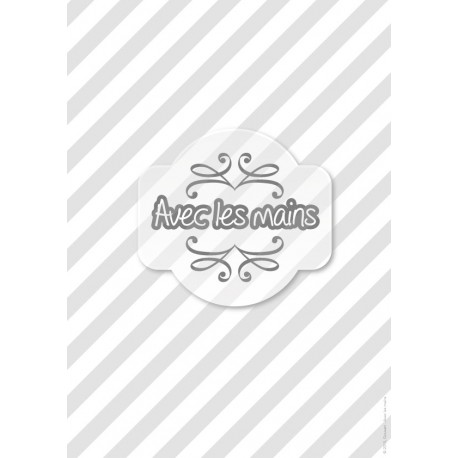 Diagonales grises et blanches - stamp