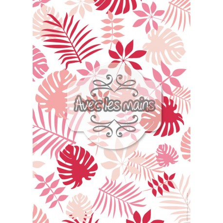 Pink jungle - stamp