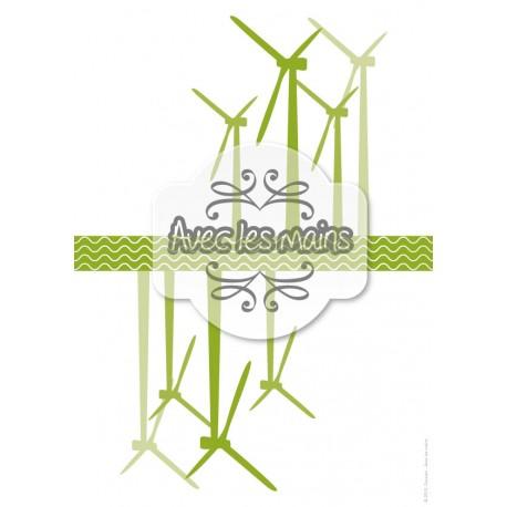 Éoliennes vertes - stamp