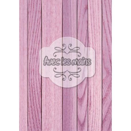 Lames de bois violettes - stamp