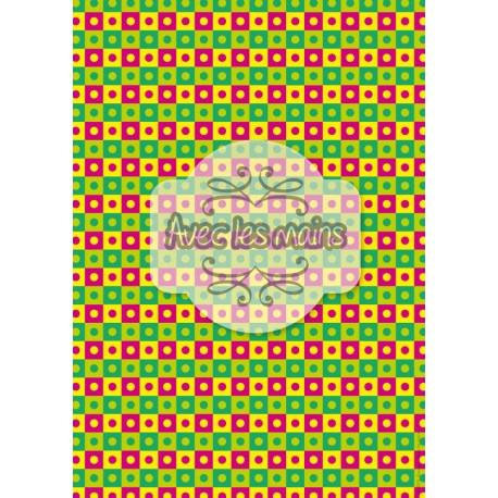 Points sur carrés muticolor flashy - stamp