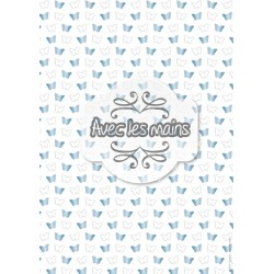 Papillons - bleu - rose - mini pack