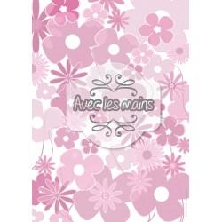 Pèle mêle de fleurs roses