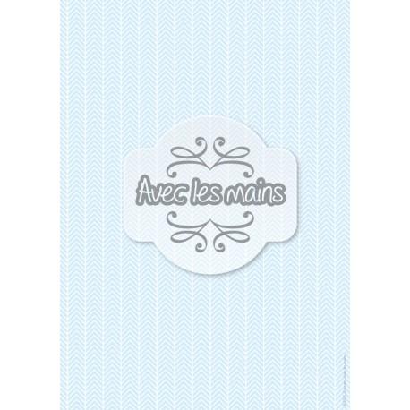 Chevrons Blancs bleus - stamp