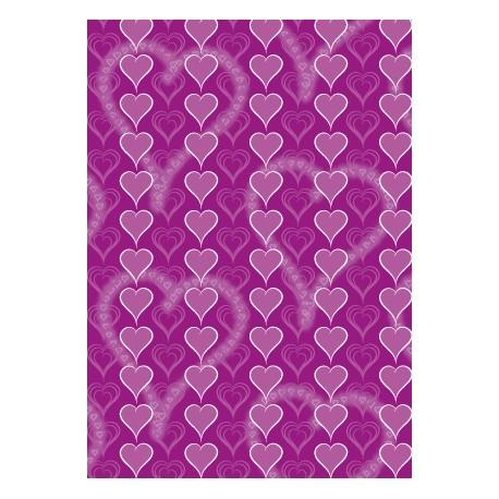 Cœur multiples sur ton violet