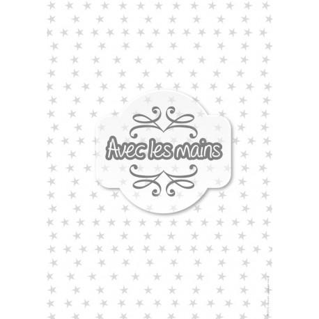 Étoiles grises sur fond blanc - stamp