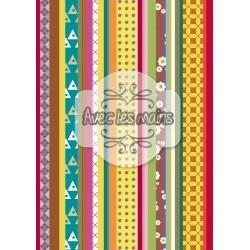 bandeaux verticaux multicolores 1