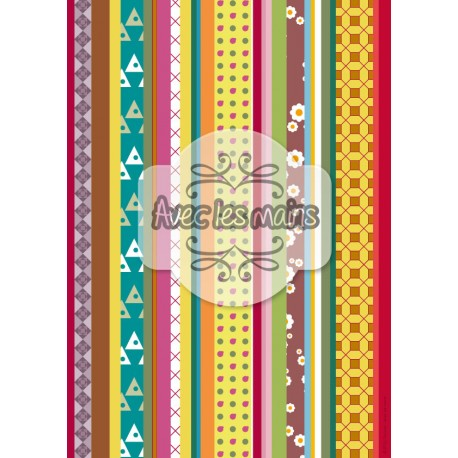bandeaux verticales multicolor 1 - stamp