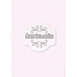 Chevrons Blancs sur fond rose pale - stamp