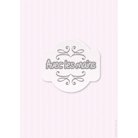 Chevrons Blancs sur fond rose pale - stamp