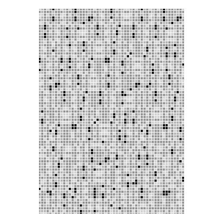 Imitation pixel en tonalités de gris